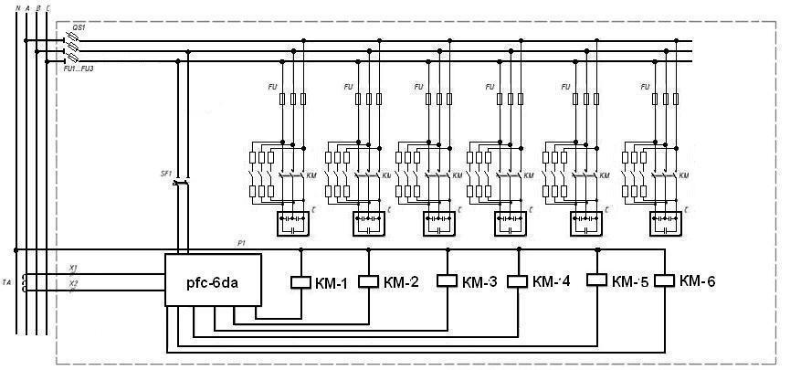 Конденсаторные установки схемы